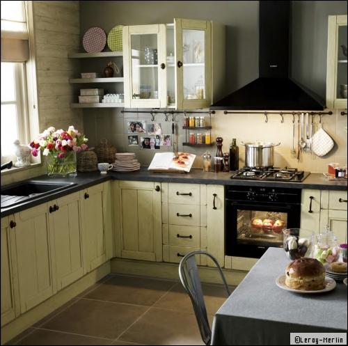 D co cuisine 10m2 - Parquet dans la cuisine ...