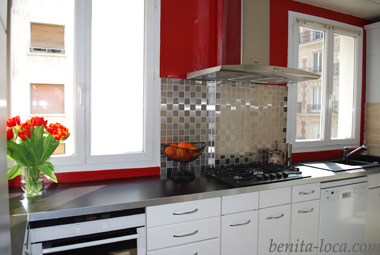 D co cuisine aluminium exemples d 39 am nagements - Modele de placard de cuisine ...
