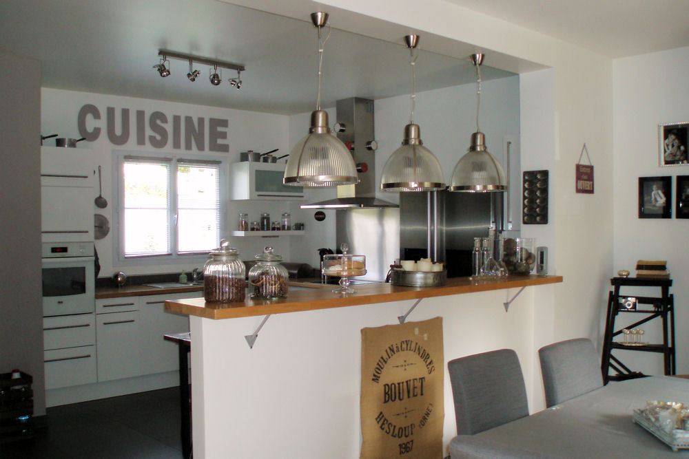 D co cuisine americaine exemples d 39 am nagements - Idee de bar pour maison ...