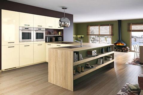 d co cuisine bois clair exemples d 39 am nagements. Black Bedroom Furniture Sets. Home Design Ideas