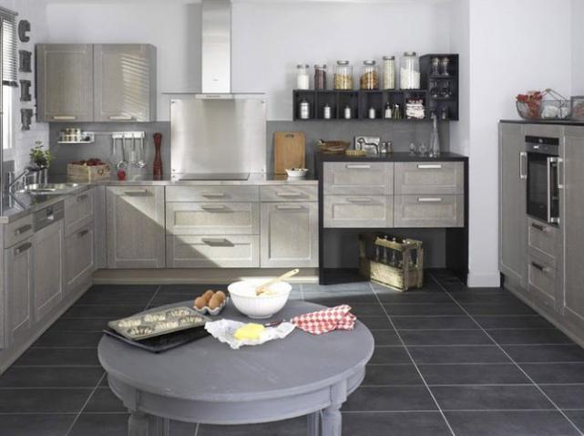 D co cuisine en gris exemples d 39 am nagements - Cuisine en gris ...