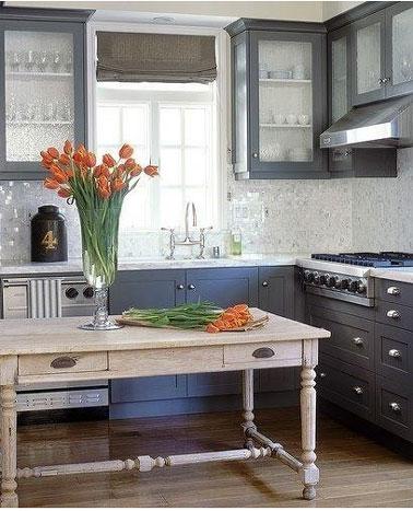 D co cuisine gris clair exemples d 39 am nagements for Cuisine gris clair