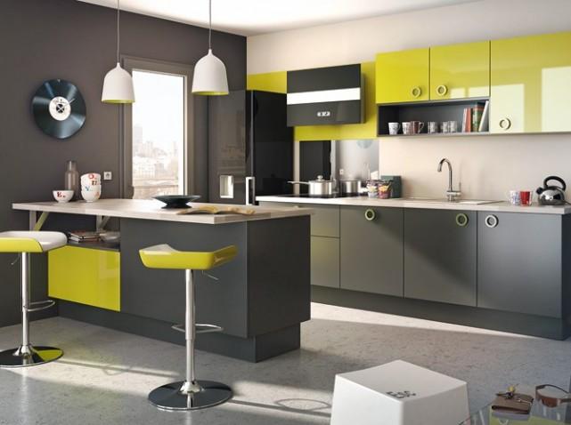 idee deco cuisine grise et rouge. Black Bedroom Furniture Sets. Home Design Ideas