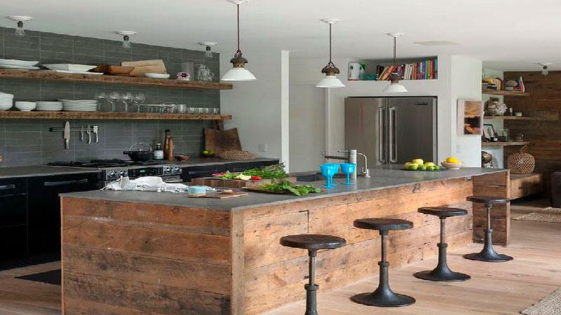 D co cuisine industrielle exemples d 39 am nagements for Deco cuisine industrielle