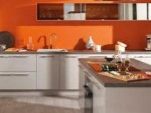 D co cuisine orange blanc exemples d 39 am nagements for Deco cuisine gris et orange