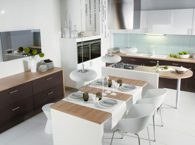 Chambre A Coucher Une Personne : Déco cuisine ouverte sur salle a manger  Exemples daménagements