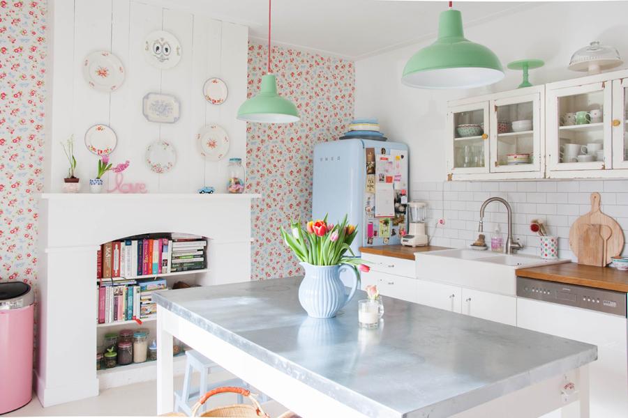 d co cuisine pastel exemples d 39 am nagements. Black Bedroom Furniture Sets. Home Design Ideas