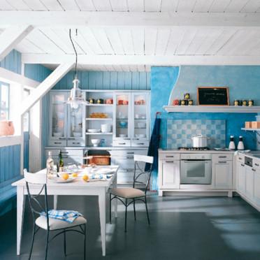 d co cuisine style bord de mer exemples d 39 am nagements. Black Bedroom Furniture Sets. Home Design Ideas