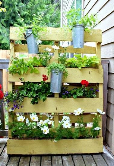 idée déco jardin avec palette