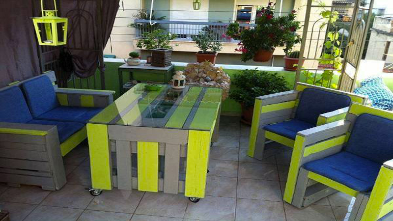 Stunning Fabrication Salon Jardin Avec Palette Ideas - Design ...