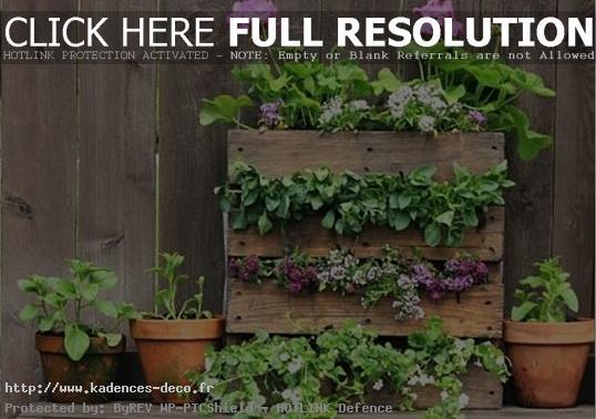 photo déco jardin avec palette