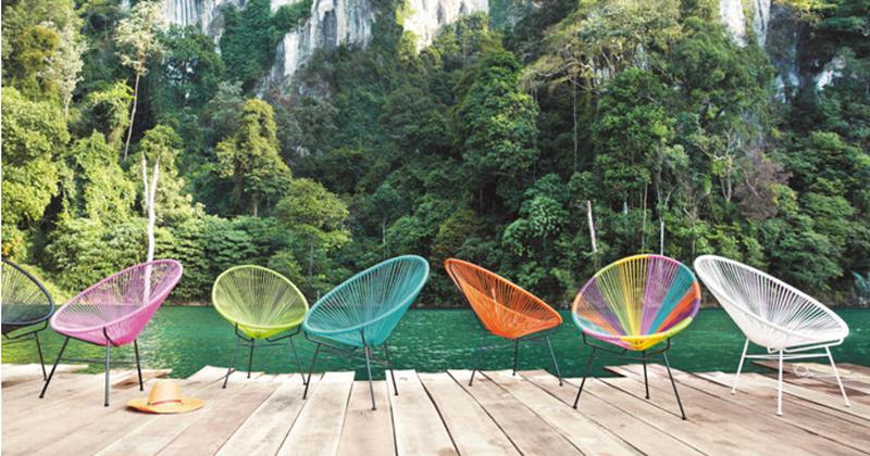 photo dco jardin colore - Chaise Jardin Colore