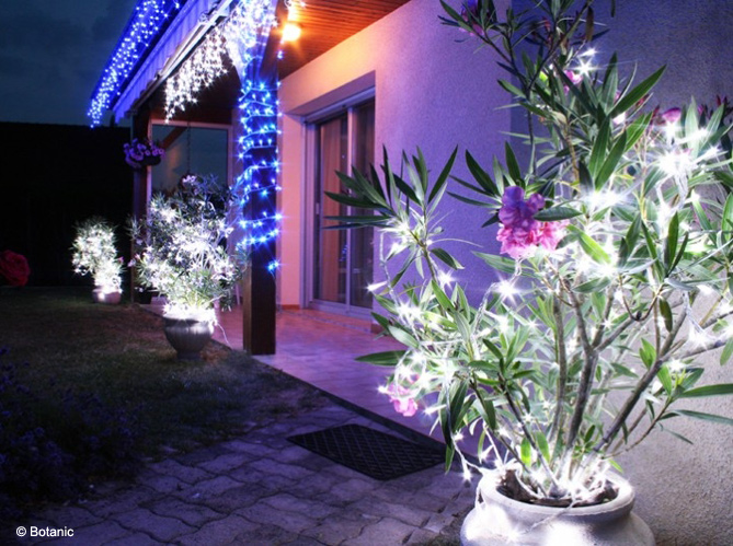 D co jardin pour noel exemples d 39 am nagements for Decoration lumineuse exterieur