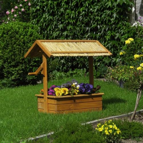D co jardin puit en bois exemples d 39 am nagements for Decoration de jardin en bois