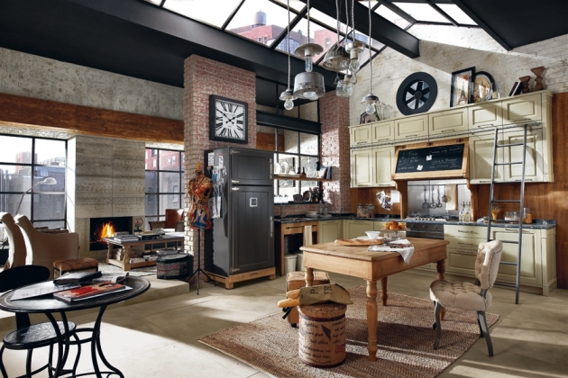 d co loft industriel vintage exemples d 39 am nagements. Black Bedroom Furniture Sets. Home Design Ideas