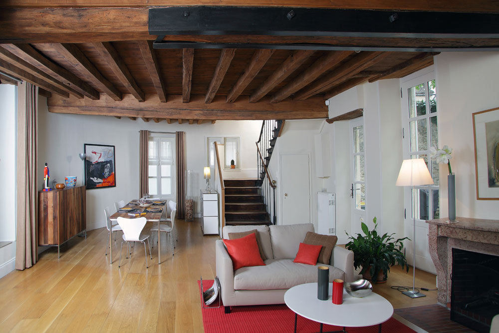 D co maison ancienne moderne exemples d 39 am nagements - Decoration maison avec tomettes ...
