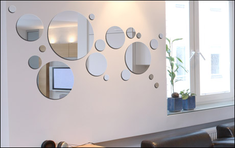 D co maison avec miroir exemples d 39 am nagements for Miroir design pour salon