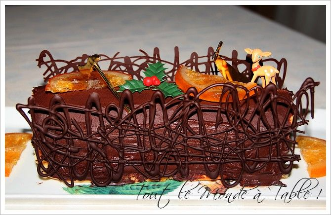D co maison buche de noel exemples d 39 am nagements - Decoration buche de noel maison ...