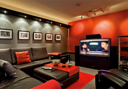d co sous sol cinema maison. Black Bedroom Furniture Sets. Home Design Ideas