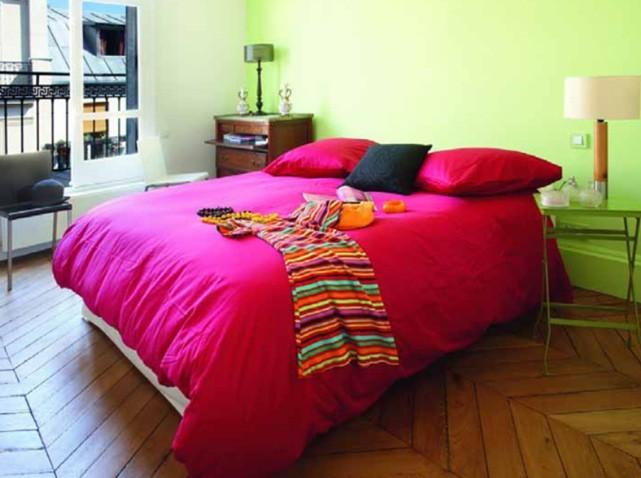 organisation déco maison couleur framboise