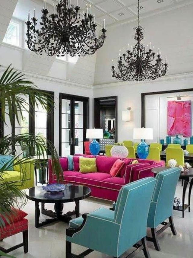 d co maison multicolore exemples d 39 am nagements. Black Bedroom Furniture Sets. Home Design Ideas