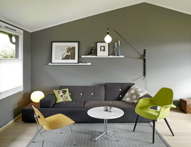 D co maison mur gris exemples d 39 am nagements - Idee deco mur gris ...