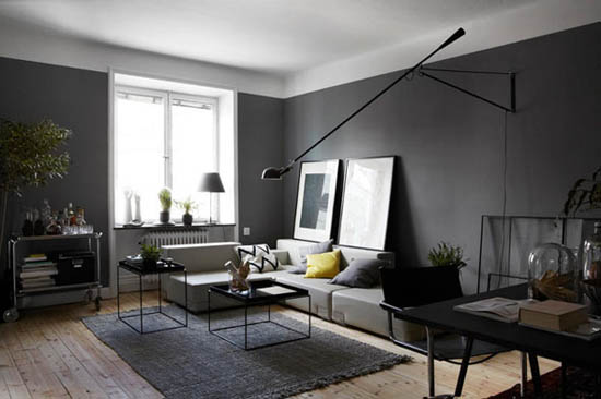 Awesome Salon Gris Clair Et Anthracite Gallery - House Design ...