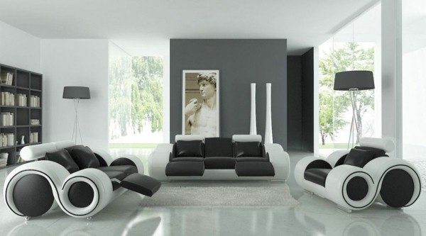 d co salon mur gris et blanc. Black Bedroom Furniture Sets. Home Design Ideas