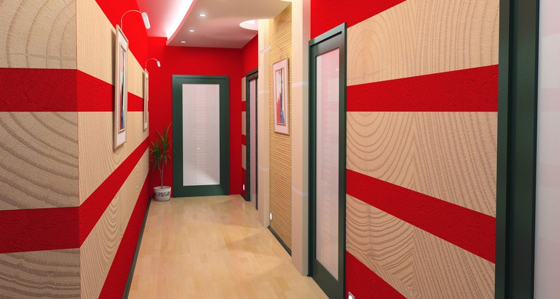 Emejing photo peinture couloir ideas for Deco couloir