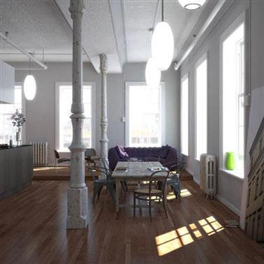 Peinture loft sol conceptions architecturales - Peinture loft sol ...