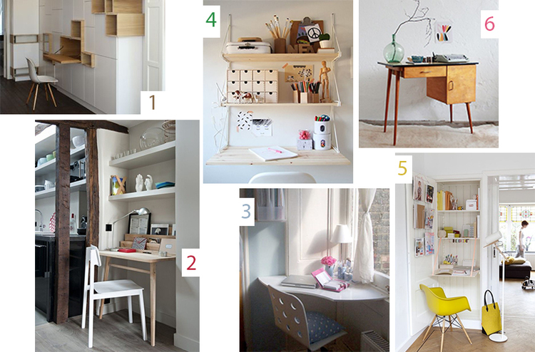 d coration petit bureau. Black Bedroom Furniture Sets. Home Design Ideas