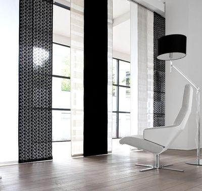 aménagement déco rideaux salon design; idée