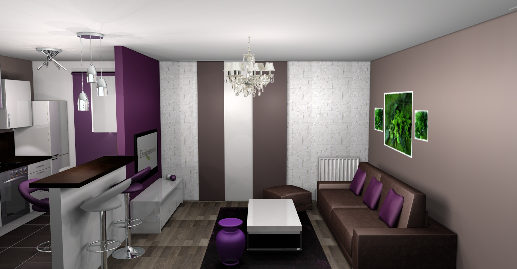 d co salle a manger aubergine. Black Bedroom Furniture Sets. Home Design Ideas