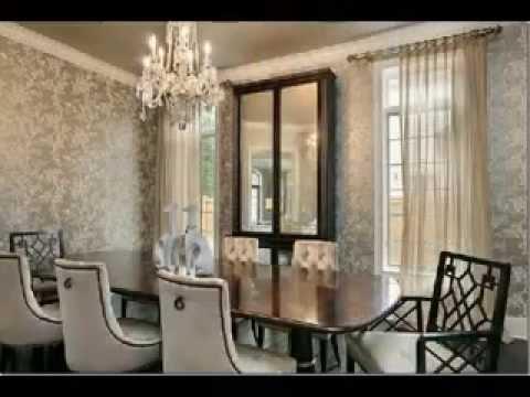 D co salle a manger en papier peint exemples d 39 am nagements - Papier peint pour salon et salle a manger ...