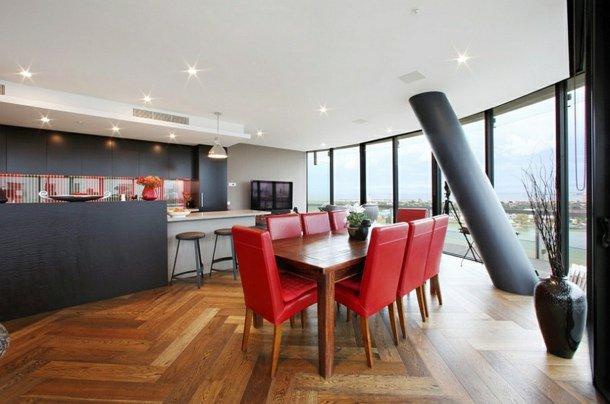 D co salle manger rouge et gris d co sphair for Salle a manger rouge et gris