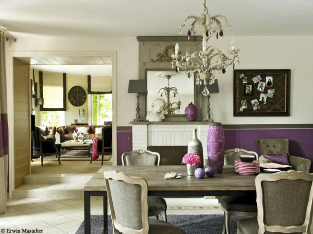 D co salle a manger style contemporain exemples d for Salle a manger style