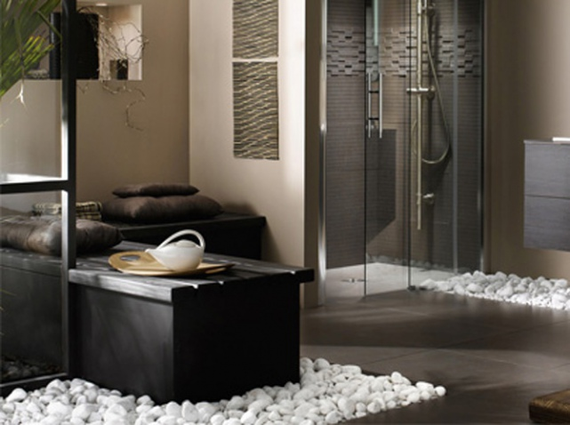 galets muraux pour salle de bain id e inspirante pour la conception de la maison. Black Bedroom Furniture Sets. Home Design Ideas