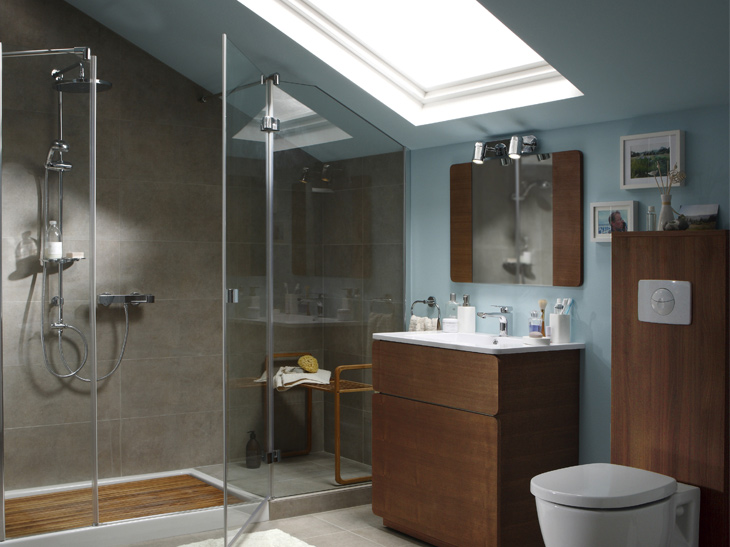 D co salle de bain combles exemples d 39 am nagements for Salle bain combles