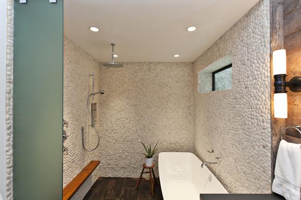 D co salle de bain en galet exemples d 39 am nagements - Galet salle de bain castorama ...