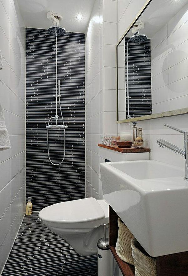 Déco salle de bain en gris et blanc - Exemples d\'aménagements