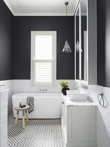 déco salle de bain en gris et blanc