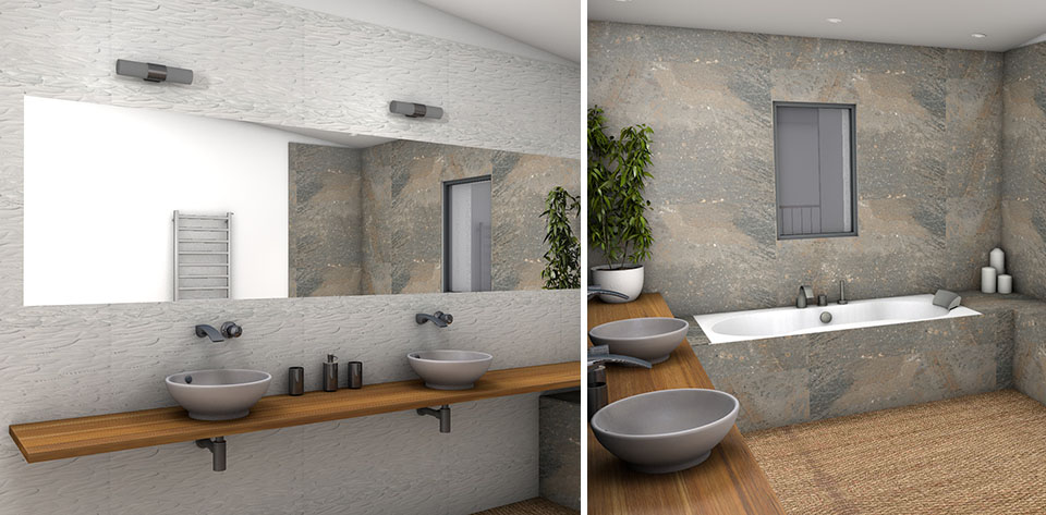 D co salle de bain nature zen exemples d 39 am nagements for Photos salle de bain zen et nature