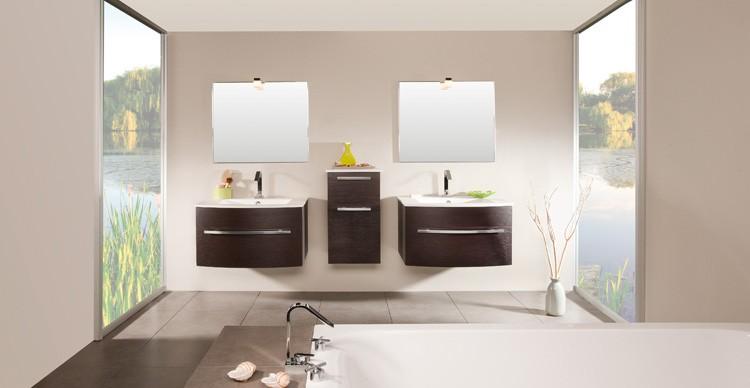Déco salle de bain wenge - Exemples d\'aménagements