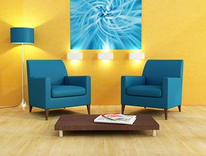 Emejing Chambre Jaune Moutarde Et Bleu Photos - Design Trends 2017 ...