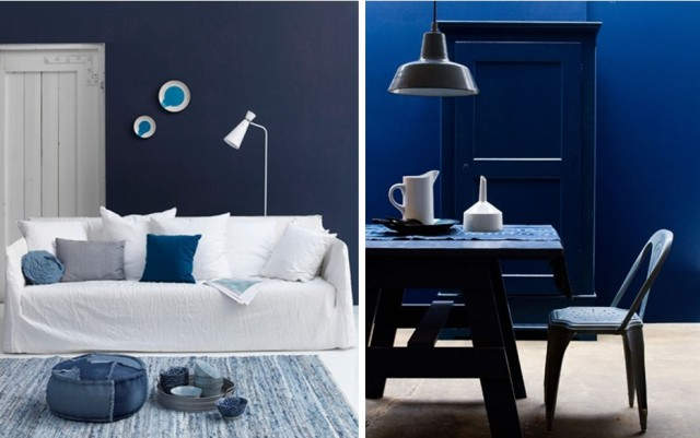 Emejing idee deco salon bleu marine contemporary awesome interior home satellite for Decoration salon bleu marine