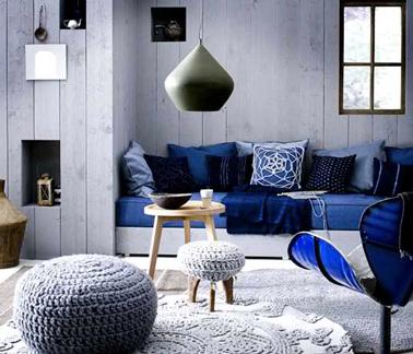 Déco salon bleu nuit - Exemples d\'aménagements