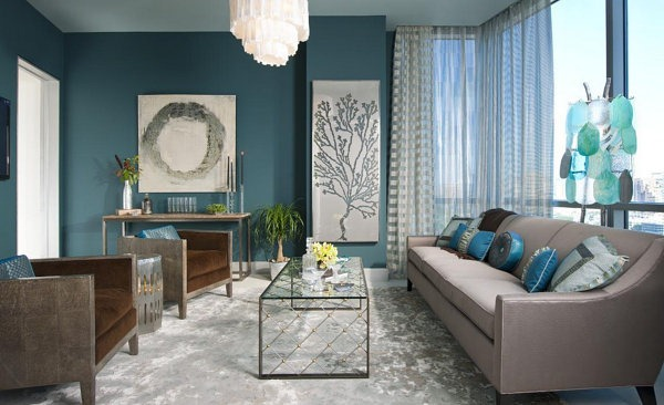 Awesome Decoration Salon Bleu Et Marron Pictures - Design Trends ...