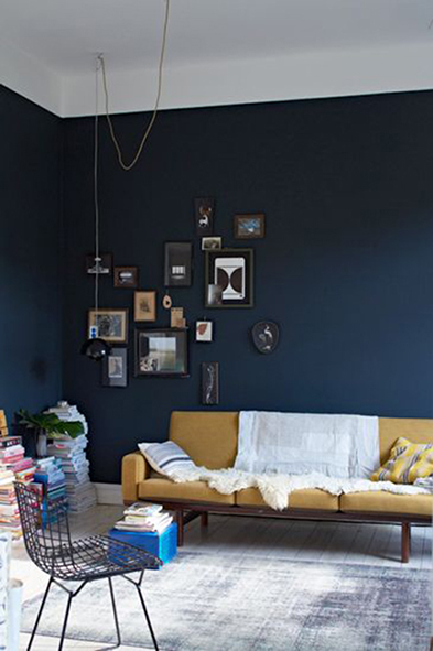Beautiful Decoration Salon Bleu Fonce Ideas - Ridgewayng.com ...