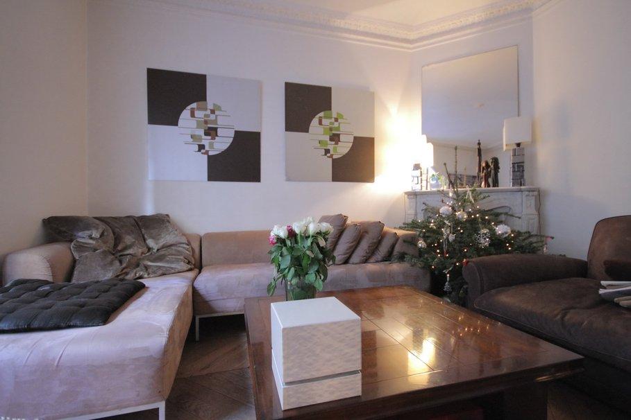 Deco salon blanc ivoire avec des id es - Deco salon chocolat ...