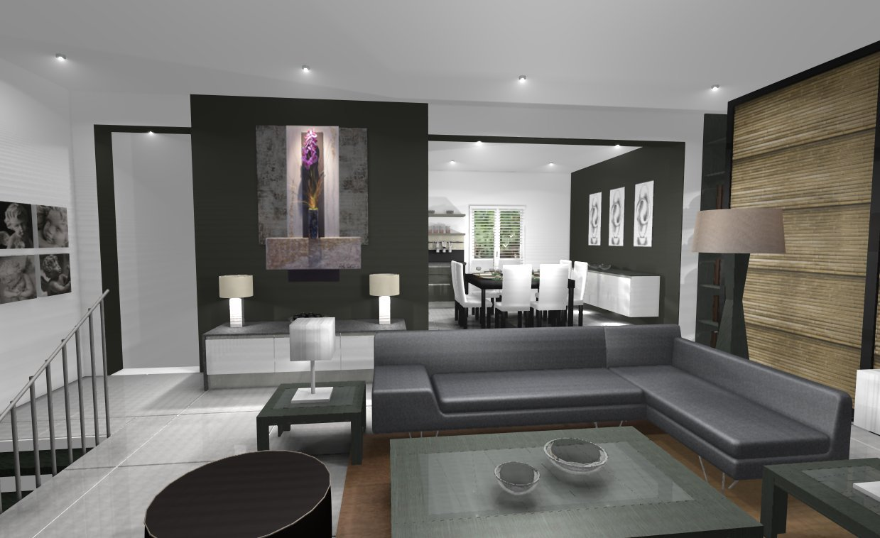 D co salon design exemples d 39 am nagements Model dedecoration desalon moderne